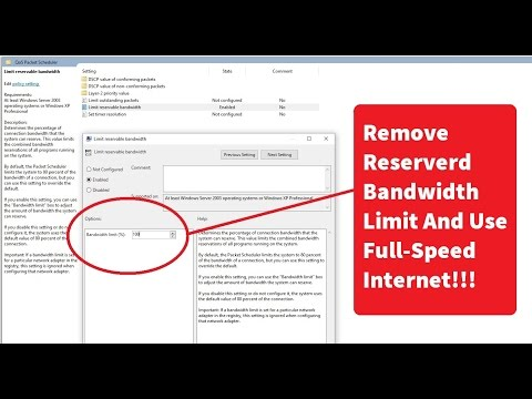 How to Increase Internet Speed in Windows 7/8/10 in 2 Minutes 2017