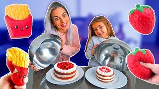 Download SQUISHY vs REAL FOOD!! ItarteVlogs Video