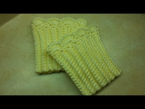 CROCHET How to #Crochet Quick and Easy Boot Cuffs #TUTORIAL #149 LEARN CROCHET