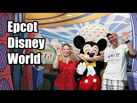 Epcot with lots of Characters at Walt Disney World! January 2018, Day 2 Part 1