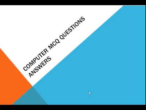 Computer MCQ Questions Answers