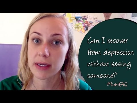 Can I recover from depression without seeing someone? Website/YouTube Wednesday! #KatiFAQ