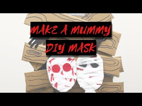 Crafting With Paiho | Make Your Own Mummy Mask | Halloween 2017