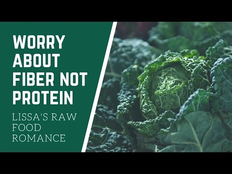 WE SHOULD BE WORRIED ABOUT FIBER NOT PROTEIN || RAW FOOD VEGAN DIET