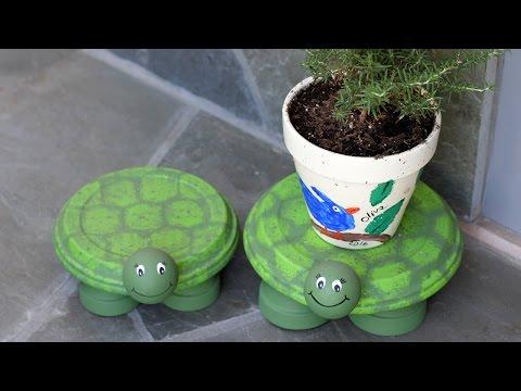 How to Make Turtle Flower Pot Holders - HGTV Handmade