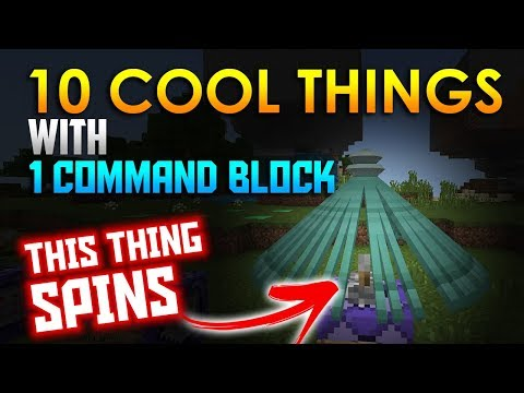 10 Cool Things to do with 1 Command Block!! - Minecraft PE