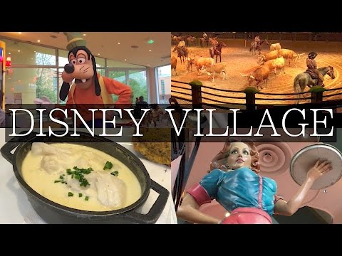 Disney Village Paris Restaurants! Café Mickey, Buffalo Bill, Steakhouse Review