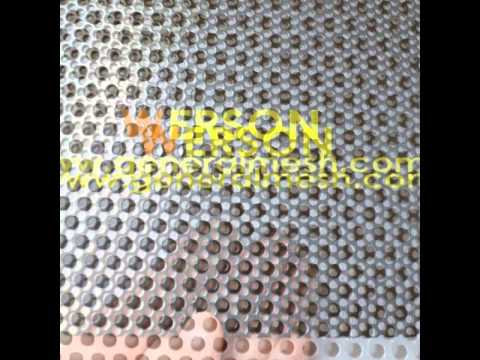 China Perforated security door mesh,Perforated aluminum security screen   generalmesh