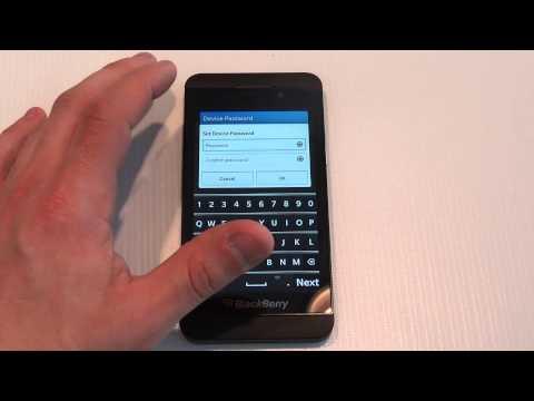 BlackBerry Z10 How to Set a Password - Fliptroniks.com