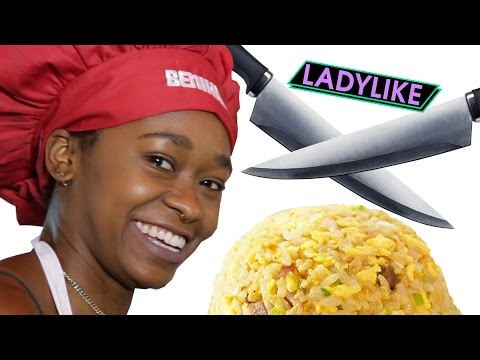 Women Try Benihana Food Tricks •