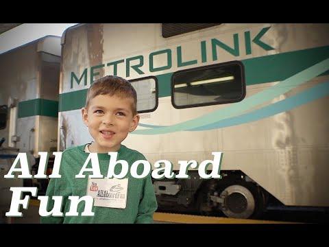 Taking the Metrolink Train - L.A. to Riverside Festival of Lights