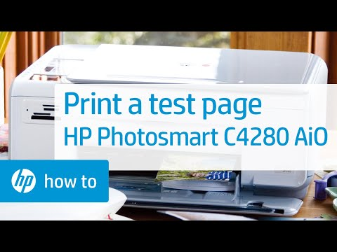 Printing a Test Page - HP Photosmart C4280 All-in-One Printer
