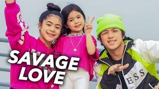 SAVAGE LOVE - Jason Derulo Siblings Dance (Family Assemble) | Ranz and Niana ft natalia