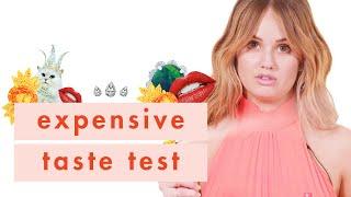 Debby Ryan Wants to Win This So. Bad.   Expensive Taste Test   Cosmopolitan