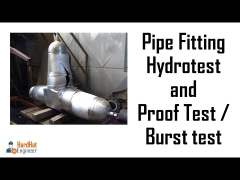 Pipe Fittings Hydrotesting and Proof Test (Burst Test)