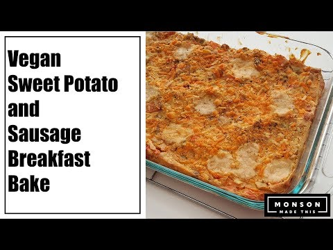 Vegan Sweet Potato and Sausage Breakfast Bake