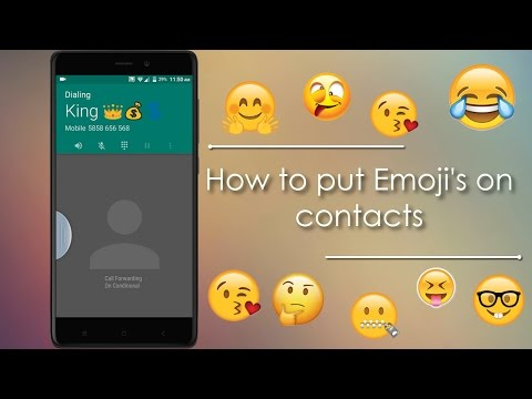 True Contacts Lets you to Put Emoji's on Contacts