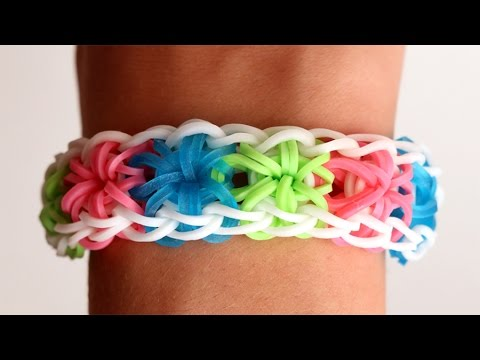 Rainbow Loom English - STARBURST - Loom Bands, easy, how to, DIY