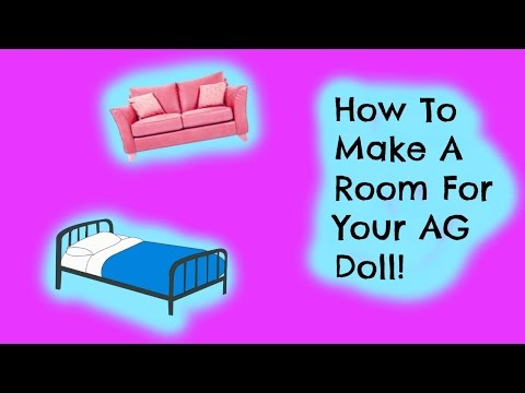 How To Make An American Girl Doll BedRoom!
