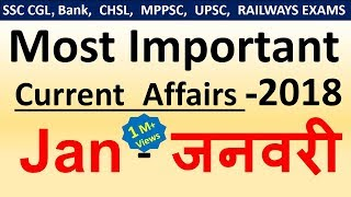 Current affairs : January 2018 | Important current affairs 2018 |  latest current affairs Quiz
