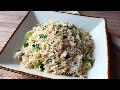 Bok Choy Rice - Easy Bok Choy Steamed Rice Recipe