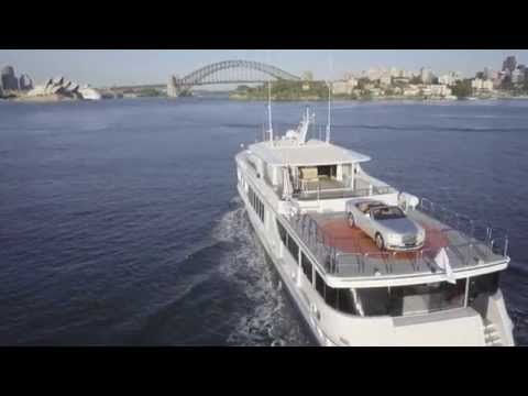 The Rolls-Royce Dawn sails into Sydney Harbour