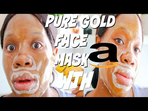 I Tried Amazon WEIRD Pure Gold Peeloff FACE MASK! Trying Gold Skincare Products