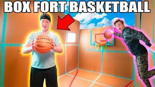 WORLDS BIGGEST BOX FORT BASKETBALL COURT 📦🏀Basketball Mini Games, Trick Shots & More!