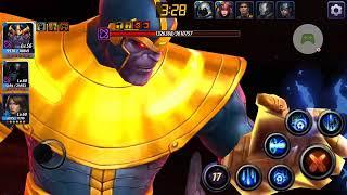 World Boss Infinity Thanos  against  Thanos - Marvel Future Fight