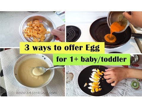 3 ways to offer egg for 1+ year baby/toddler ( for toothless & 2+ teeth baby)