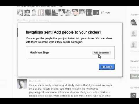 Send Google Plus Invite To Email Address