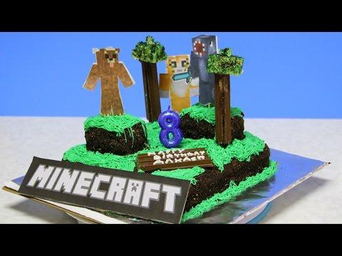 How to make Minecraft World Cake Video Recipe by Bhavna