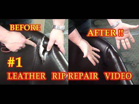 LEATHER RIP REPAIR #1 VIDEO *****