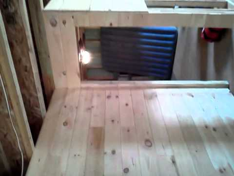 Knotty pine siding going up in interior walls