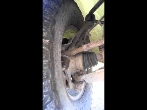 What a trashed upper ball joint sounds like!