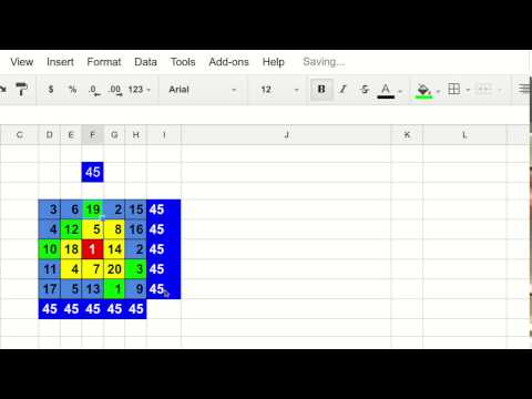 How to create an endless number of magical squares (5 X 5) in seconds