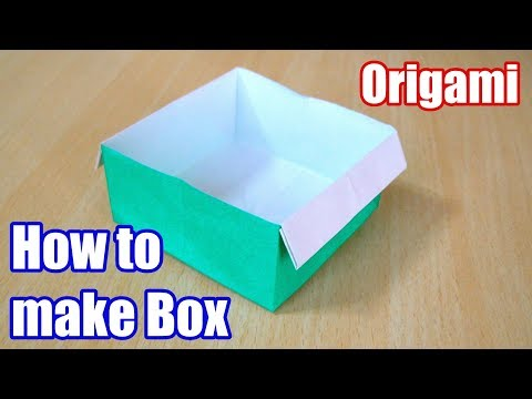 How to make Box. Origami. The art of folding paper.