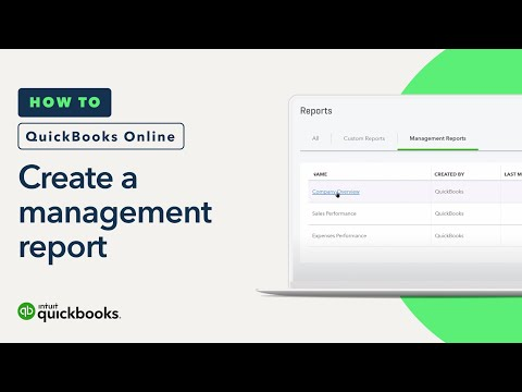 How to Create a Management Report: Different Kinds, Editing & More   QuickBooks Online Tutorial 2018