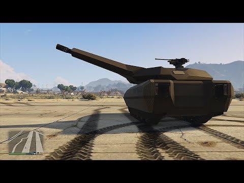 GTA 5 Online The Doomsday Heist DLC - TM-02 Khanjali Gameplay. Fully Upgraded Vehicles (GTA 5)