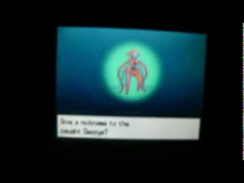 How to catch DEOXYS on Pokemon Black using cheats