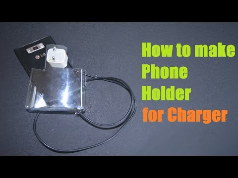DIY Charging Cell Phone Holder from a plastic bottle