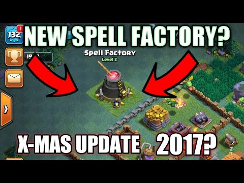 New Spell factory in Builder base X-mas update 2017 Clash of clans!