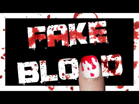 How to make WASHABLE Fake Blood | DevinCrystie