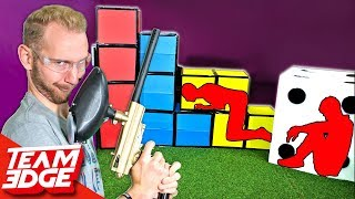 GIANT Prop Hunt IRL | Paintball Edition!!