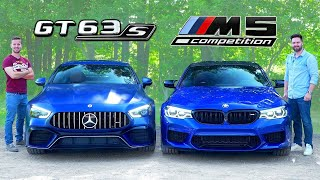 2019 Mercedes-AMG GT 63 S vs BMW M5 Competition // When Monsters Meet