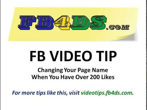 How to Change Your Facebook Page Name With Over 200 Likes