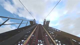 4K] 'WILD JACK' Three Inversion Wooden Roller Coaster [No