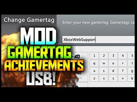 How to Mod Gamertag/Achievements USB - TUTORIAL (Xbox 360)::
