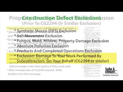 Construction Defect And General Liability For Builders