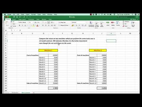 How to use IRR (internal Rate of Return) to assess and compare investment opportunities